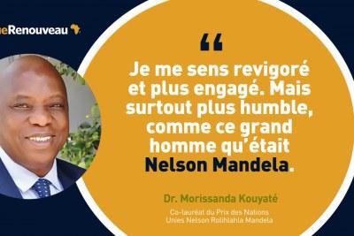 Le docteur Morissanda Kouyaté, Guinée, est co-lauréat du prix Nelson Mandela 2020