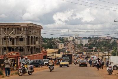 Street scene in Yaounde, Cameroon.