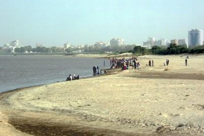 The Blue Nile beach on Tuti Island, Khartoum, Sudan.