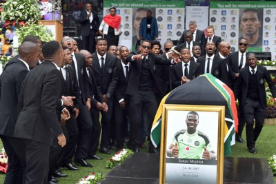 Senzo Meyiwa's funeral on November 1, 2014