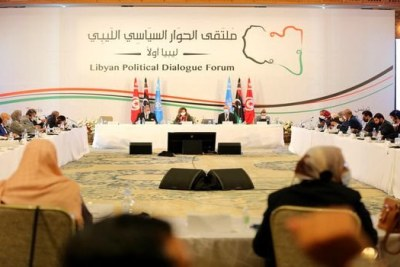 Inter-Libyan dialogue forum organized by the UN (file photo).