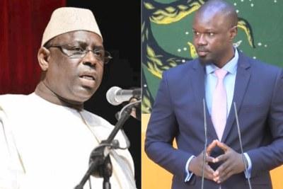 Président de la Républque du Sénégal Macky Sall et Ousmane Sonko (PASTEF)