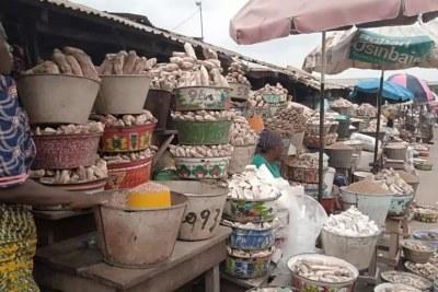 Sur un marché à Lagos au Nigeria (image d'illustration).