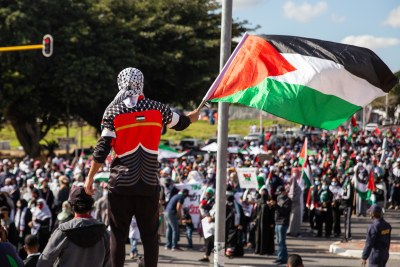 Thousands of people marched in Cape Town in solidarity with Palestinians.