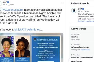 UCT open lecture invite.