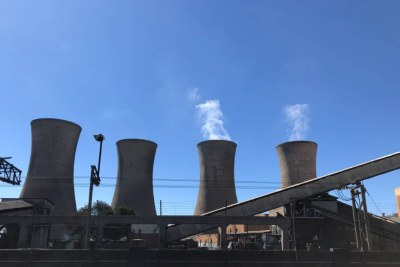 The Bulawayo Thermal Power Station, a 90 MW coal-fired power plant, on July 27, 2021.