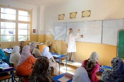 Femmes en cours d'alphabétisation