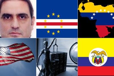 Alex Saab, Cape Verde flag, Venezuela flag, U.S. flag, Colombia flag