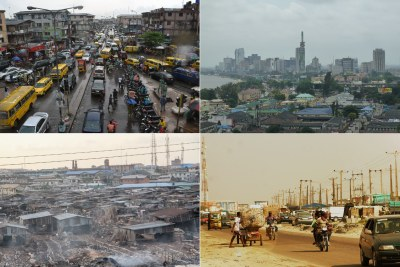 Lagos traffic, Victoria Island, top right