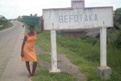 Tableau indiquant le district de Befotaka