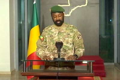 Colonel Assimi Goïta, Mali coup leader (file photo).