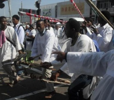 Shembe Members March to the Durban High Court
